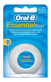 <b>Зубная нить ORAL</b>-<b>B Essential</b> floss wAxed mint | Watsons