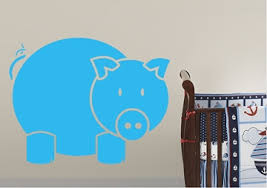<b>Pig Wall Stickers</b> | WallArtDirect.co.uk