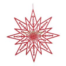 <b>Игрушка Weiste Снежинка</b> 250мм красная (92230) (1000018030 ...