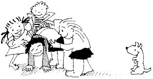 Resultado de imagen de juegos  cooperativos niños y masaje dibujo