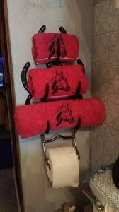 masks bathroom accessories set personalized potty: horseshoe towel holder and horse bit for toilet paper holdereste invento esta maziso