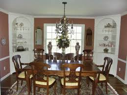 corner cabinets dining room: formal dining room with corner cabinets