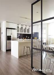 white kitchen windowed partition wall: glass wall partition kitchen google search