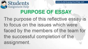 reflective essay on teamworkpurpose of essay   studentsassignmenthelp com
