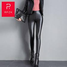 <b>RFZK</b> leather pants female <b>high waist</b> 2020 autumn and winter new ...
