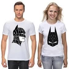 """Парные <b>футболки</b> c необычными принтами """"<b>batman</b>"""" - <b>Printio</b>"""