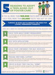 infographic 5 reasons to adopt a teen aging out of foster care an infographic of 5 reasons to adopt a teen aging out of foster care 1