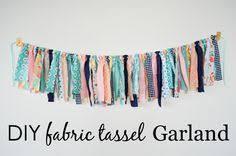<b>How to Make</b> A <b>Fabric Tassel</b> Garland (No Sew!) | Crafts | <b>Diy</b> tassel ...