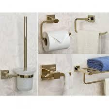 piece bathroom hardware set satin