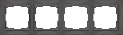 <b>Рамка</b> Snabb Basic на 4 поста серо-коричневый WL03-Frame-04 ...