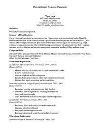 hotel receptionist cv entry level medical receptionist resume receptionist resume receptionist resume is relevant customer medical receptionist resume sample 2012 medical assistant resume