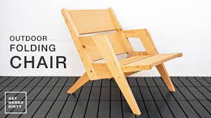 How to Build an <b>Outdoor Folding Chair</b> // Basic Tools Project ...