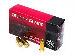 Охотничий патрон 7.65x17 mm /.32 Auto <b>FMJ</b> Geco 2317703 ...