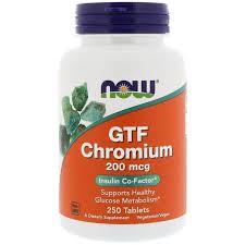 <b>Хром</b>, <b>GTF</b> Chromium, Now Foods, 200 мкг, 250 <b>таблеток</b> - в ...