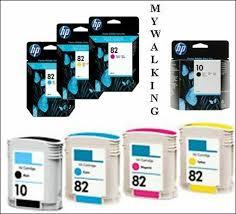 <b>Hp 82</b> + 10 <b>design-Jet</b> 500 Ink Cartridges <b>Black</b>/ Magenta / Yellow ...