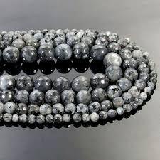 <b>Natural Larvikite Labradorite</b> Stone Faceted Round Beads 15.5 ...