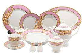 Royalty Porcelain 49-<b>pc</b> Dinner Set <b>Pink</b> Acanthus, <b>Vintage Pink</b> ...