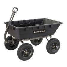 GORILLA CARTS 1,500 lb. Super <b>Heavy Duty Poly</b> Dump Cart ...