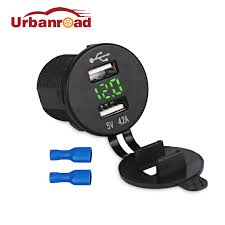 Urbanroad <b>Motorbike</b> 4.2A 12v <b>USB</b> Socket <b>Car</b> Charger Dashboard ...