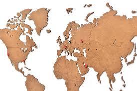 "Карта-<b>пазл</b> ""Wall Decoration"", 90х54 см, цвет: коричневый ..."