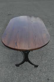oval dining table art deco: we are offering this beautiful art nouveau dining table this table is our own design we reproduced the base from an actual antique art nouveau table base