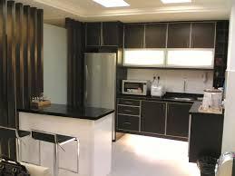 island black color furniture office counter design