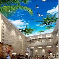 <b>beibehang Custom wallpaper 3d</b> photo mural coconut tree blue sky ...