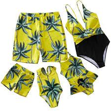 Beach Family <b>Swimwear</b> Striped Matching <b>Swimsuit Mother</b> ...