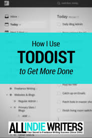 how i use todoist to organize writing projects and get more done
