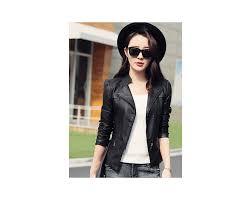 Leather Jacket <b>Women</b> Black Gray <b>S 3XL</b> Korean Short Slim PU ...