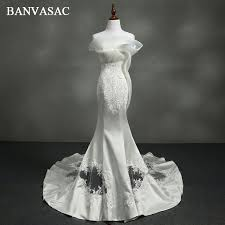 <b>BANVASAC 2018</b> Vintage Strapless Ruffles Embroidery Mermaid ...