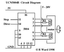 6 wire stepper motor controller circuit images stepper motor unipolar stepper motor controller electronic circuit diagram