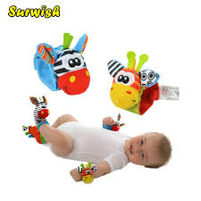 Surwish <b>One Pair Baby</b> Rattles Soft Plush Toy Wrist Band Watch ...