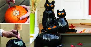 How To Make <b>Black Cat</b> Jack O'Lanterns - <b>DIY</b> Cozy Home