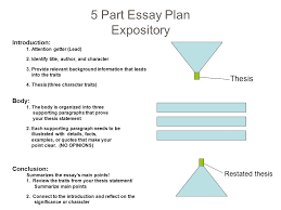essay writing expository essay character analysis   ppt download  part essay plan expository introduction  attention getter lead