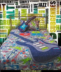 themed bedroom decor wallpapers musicthemebedroomdecorating musicthemebedroomdecoratingjpg guitar bedding guitar pillow set music wall murals