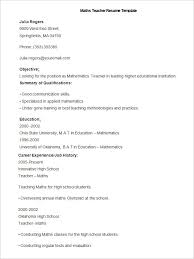 spanish teacher resume template  teachers resume template best    this maths teacher resume template is available as free download and it is in word format it features objective summary of qualifications education