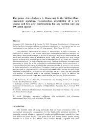 (PDF) The genus Aria (Sorbus s. l., Rosaceae) in the Sicilian flora ...