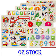 <b>Kid's Wooden Puzzle</b> for sale   Shop with Afterpay   eBay