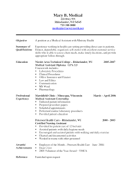 resume examples  medical assistant resume objective samples        resume examples  medical assistant resume objective samples with professional experience as medical assistant externship