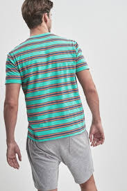 Купить Трикотажный <b>пижамный комплект</b> в полоску на сайте Next ...