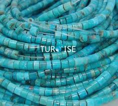 China 100% <b>Natural Bule</b> Turquoise Heishi Jewelry (12 HEISHI 1 ...