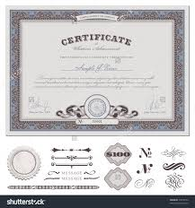 certificate coupon template detailed border additional stock certificate or coupon template detailed border and additional design elements din format