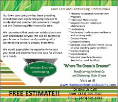 7 best images of landscape business flyer design templates lawn care service flyers