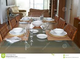 Dining Room Table Setting Dining Room With Table Setting Stock Photos Image 1543153
