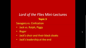 lord of the flies mini lectures part 1 lord of the flies mini lectures part 1