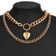 Retro <b>Punk</b> Street Heart <b>Pendant Necklace</b> 2019 <b>Fashion</b> Trend Hip ...