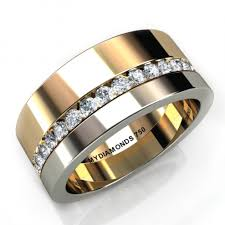 <b>Aramis Mens</b> Diamond Two Tone Ring - 0.40 carats | <b>Mens</b> Wedding ...