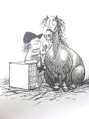 Thelwell Original Vintage Art Print A Leg At Each Corner Horse Pony Children   Horse cartoon, Funny horses, Horse pictures
