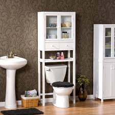 style bathroom design white etagere
